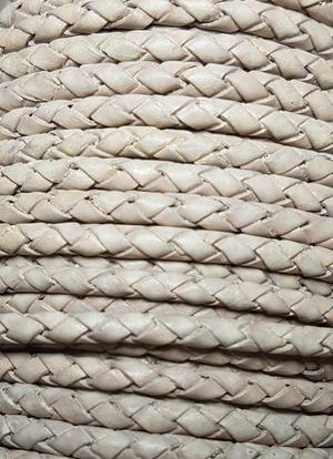 Flätad läderrem 3,0 mm
