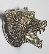 Björnhuvud - nysilver