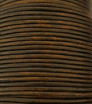Läderrem rund 2 mm