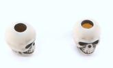 Skull bead Ivory