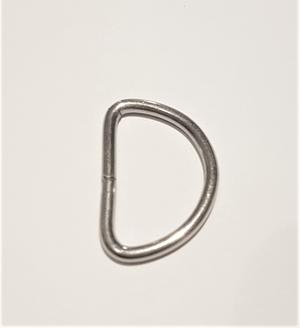 D-ring 15 mm - Nickel