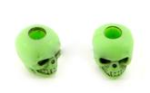 Skull bead Zombie Green