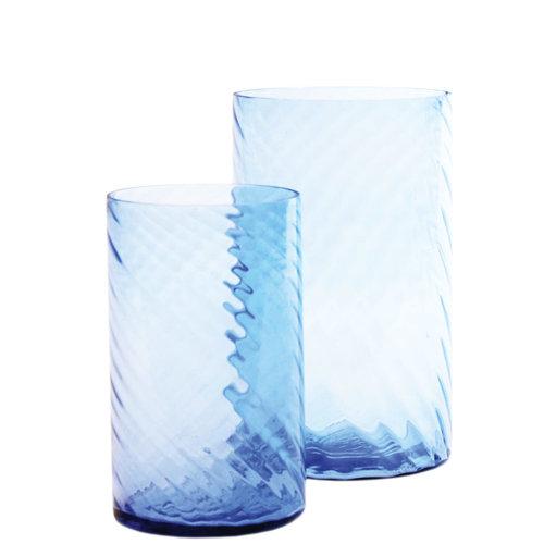 Sandy Wave Vase Blue M / L