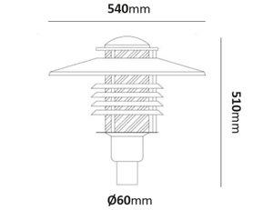 Stolparmatur Arnäs utbytbar LED 27W-45W