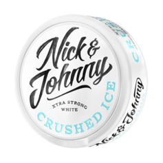 Nick & Johnny crushed ice white