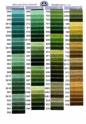 Mouliné färg 319-444
