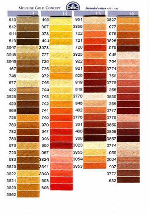 Mouliné färg 3329-3756