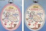 Doptavla - stork