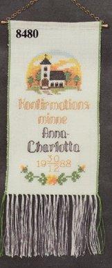 Konfirmationsvepa med kyrka