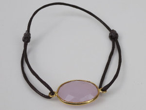 Armband Arma Ferre Löpknut Guld Rose quartz