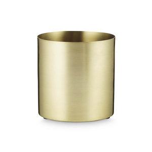 Kruka Cylinder H. Skjalm P. 14x14cm Medium Matt mässing