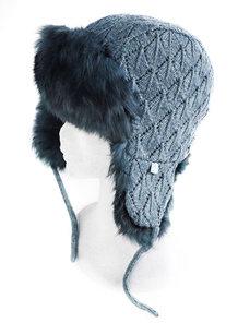 Mössa Fur Trapper Hat Samantha Holmes M/L Mörkgrå