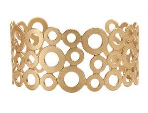 Armband Dansk Smykkekunst Leonora Cirklar Matt Guld