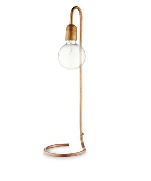 Bordslampa H. Skjalm P. Hög 65cm Rå koppar