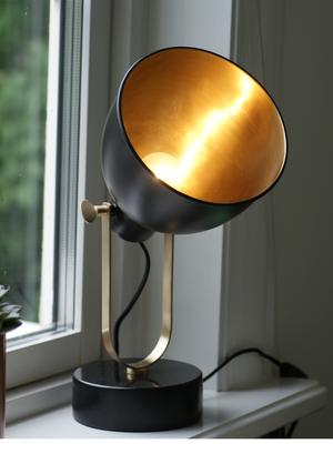 Bordslampa H. Skjalm P. 25cm Marmorbas Matt Svart