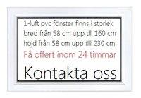 1-luft pvc fönster DREH/KIPP, 6x6
