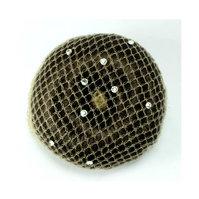 Hårnett med swarovski krystaller