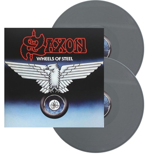 Saxon - Wheels Of Steel - Grå LP