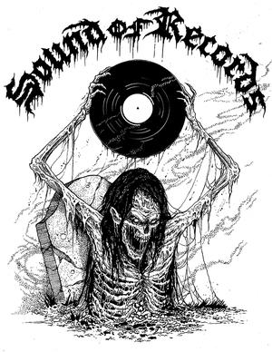 Sound of Records Vit - t-shirt