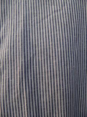 Skjorta 19. Bomull/Lin      Blå/vit