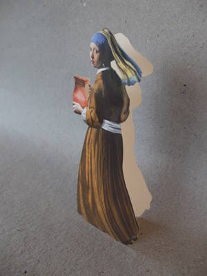Flickan med pärlörhänget/stickersKort