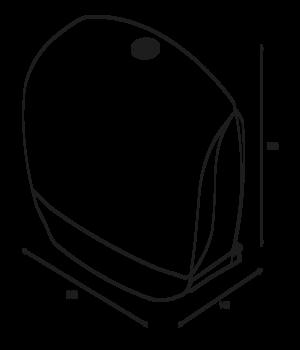 Katrin Inclusive Gigant Toilet L Dispenser - Black