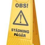 Varningsskylt 'Städning Pågår' 'Våta golv'