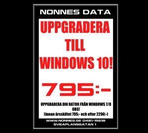 Windows 10 Erbjudande!