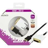 2m Deltaco HDMI till DVI-D Svart