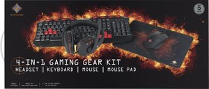 DELTACO 4-in-1 Gaming Gear Kit