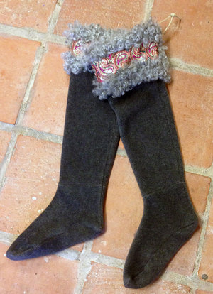 Fårskinns sockor