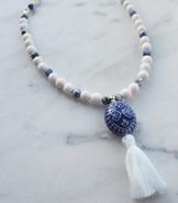 Blå dröm halsband