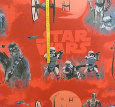 Star Ward på röd botten