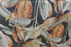 Grafitgrå botten med höstens brun,gul,orange färger