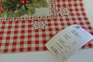 Julgransmatta eller duk med julstjärna Gobelängvävd