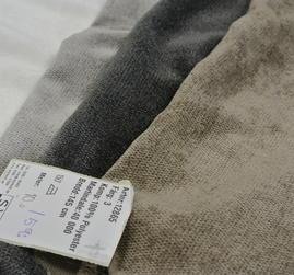 Enfärgat Möbeltyg i vitt ,ljgrått ,mörkgrått och beige