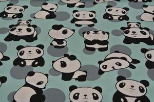 mintgrön botten med pandor