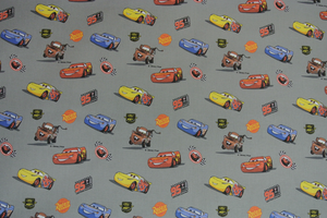 Lusgrå  botten med bilar i olika färger