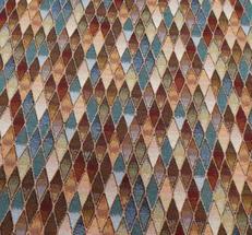 Gobeläng vävd romb rutig i många färger