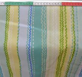 randig i blå och gröna toner