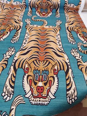 turkos botten med tiger bruna toner