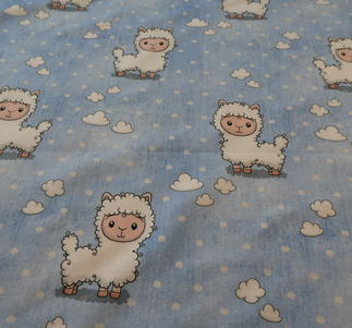 ljusblå jogging med vita lamm