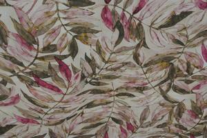 ljus botten med blad i rosa och gröna toner