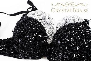 Crystal Bra - Svart