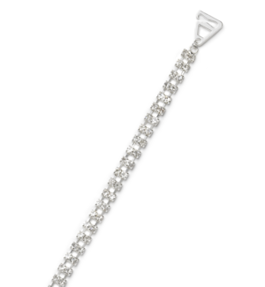 CrystalStraps Double Silver