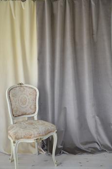 2017 Greige  ( grey/beige) velvet width 140 cm