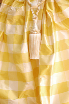1026 Yellow-offwhite plaid silk