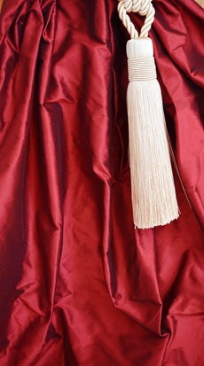 1040 New! Ruby red shantung silk