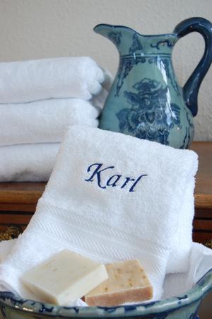 White terry towel 50 x 100 cm