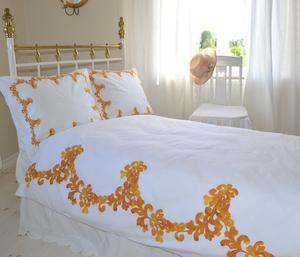 6040 Aquarelle -Tupelo honey  påslakan enkel 150x210 cm